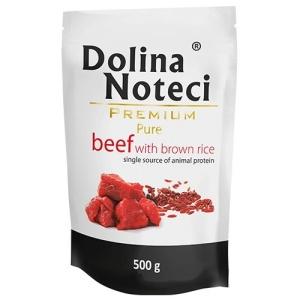 dolina-noteci-premium-pure-taistoit-pruuni-riisi-ja-veiselihaga-taiskasvanud-koertele-500-g